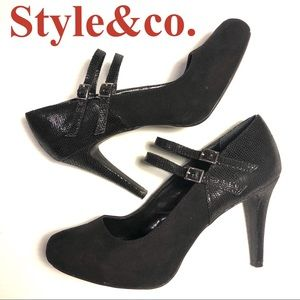 Style & Co. Payslee Mary Jane pumps heels black 10